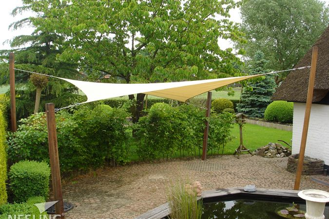 Dreamsail waterproof schaduwdoek Vierkant 4,0 x 4,0 x 4,0 x 4,0m, Cream